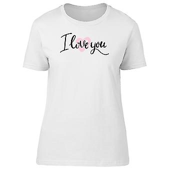 I Love You Light Pink Love Heart Tee Women's -Image by Shutterstock