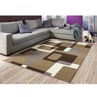 Diseño Terciopelo alfombra Retro marrón / crema 101602
