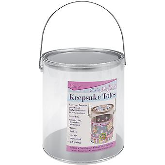 Keepsake Totes Clear Paint Can-6.625