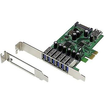 Renkforce 6+1 ports USB 3.0 controller card USB type A PCIe