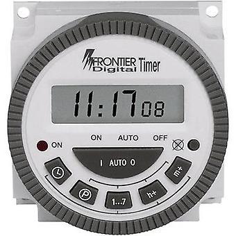 Minuterie de Mont TM-619 avant panneau numérique 230 V AC 16 A/250 V