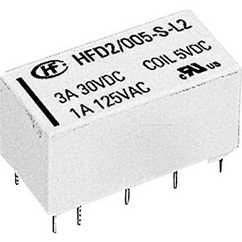 Hongfa HFD2/012-S-L2-D PCB relays 12 Vdc 3 A 2 change-overs 1 pc(s)