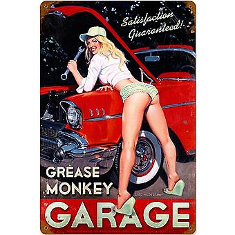 Grease Monkey Garage verroeste metaal ondertekenen 460 X 300 Mm