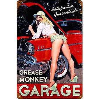 Grasa mono Garage Metal oxidado firmar 460 Mm X 300 Mm