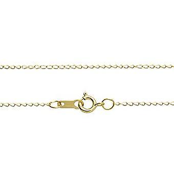 GEMSHINE 585 Gold Halskette 0,9 mm Ankerkette in Längen von 40 bis 76 cm