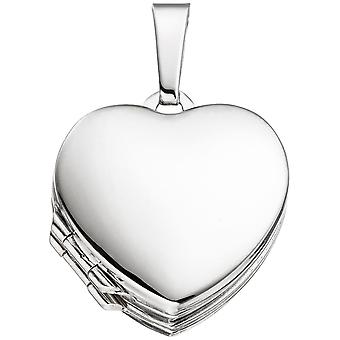 Locket heart for 4 photos 925 sterling silver pendants to open