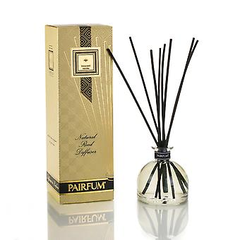 Large & Natural Reed Diffuser - Long-lasting & Healthy - Beautiful Perfumes that Compliment You - Fragrances for 6 - 9 months (250 ml) - by PAIRFUM - Perfume: Innocent Vanilla - with Black Reeds