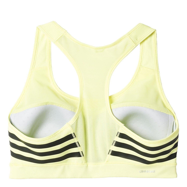Adidas Womens Racerback Sports Bra A/B Cup Yellow/Black Size:XXS