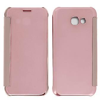 Caso de aleta, caso de espelho para Samsung Galaxy A3 2017, ver através de frente flip - Pink