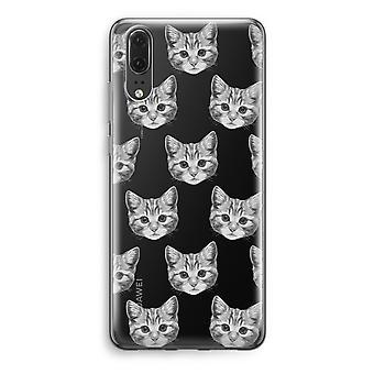 Huawei P20 Transparent Case - Kitten