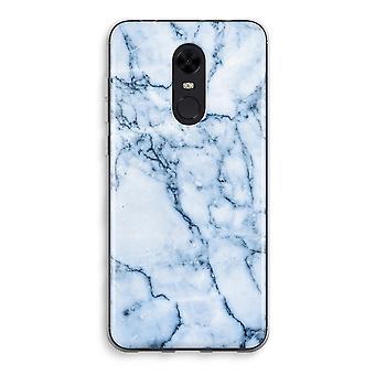Xiaomi Redmi 5 Transparent Case - Blue marble