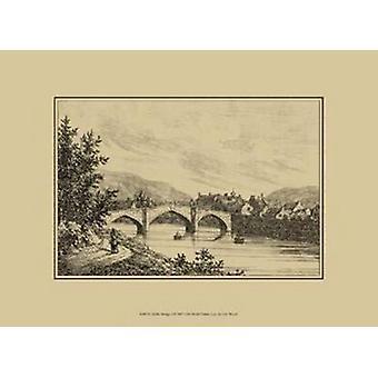 Idyllic Bridge I Poster Print by Grant Wood (13 x 10)