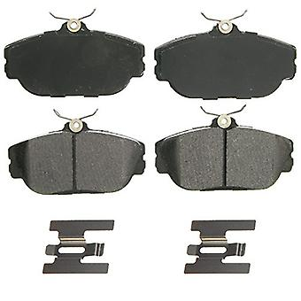 Wagner QuickStop ZX601 Semi-Metallic Disc Pad Set Includes Pad Installation Hardware, Front