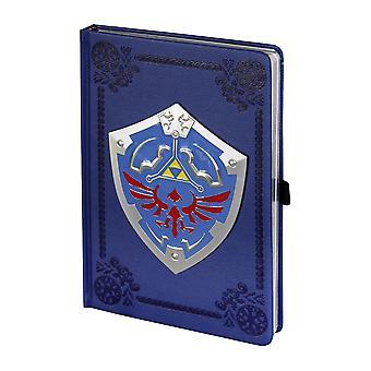 La leggenda di Zelda copertina rigida del sinistro scudo di notebook, guardare & sentire come pelle, 120 pagine con copertina rigida, vuoto.