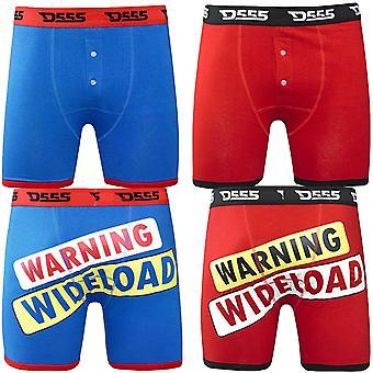 Hertog D555 nieuwigheid Wideload King Size grote hoog Boxershorts 2 Pack - rood/blauw