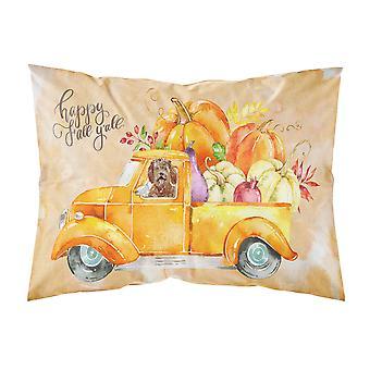 Fall Harvest Labradoodle Fabric Standard Pillowcase