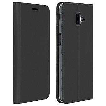 Slim flip wallet case, Business series for Samsung Galaxy J6 Plus - Black