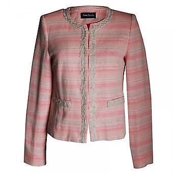 ベティ バークレー女性の長い袖エッジ ジャケット