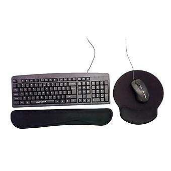 Ergonomsikt mouse pad and keyboard wrist rest