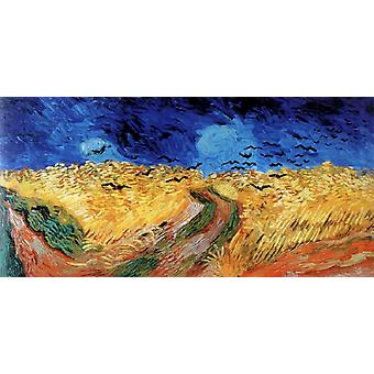 Campo de trigo con cuervos, Vincent Van Gogh, 80x40cm