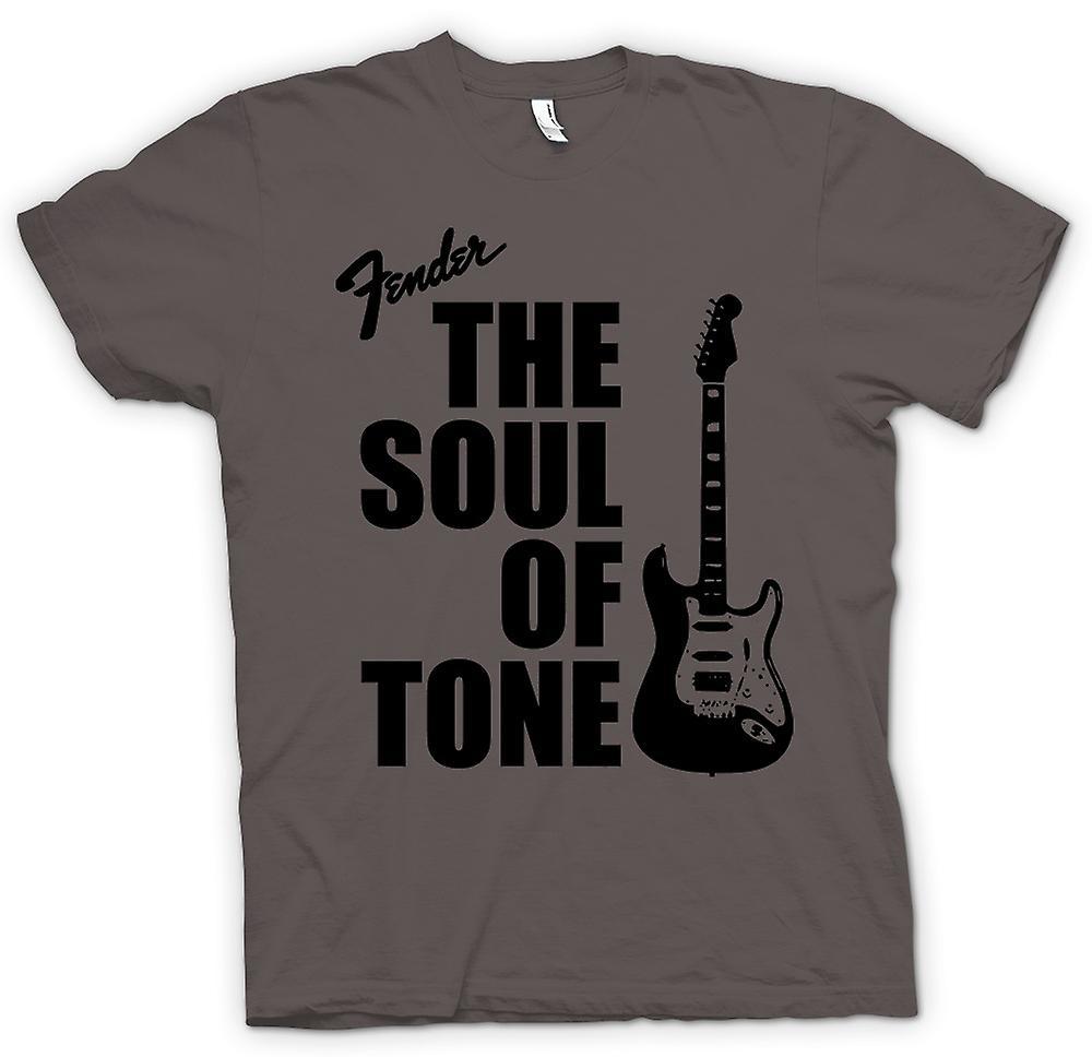 Camiseta mujer-Fender Strat alma tono guitarra