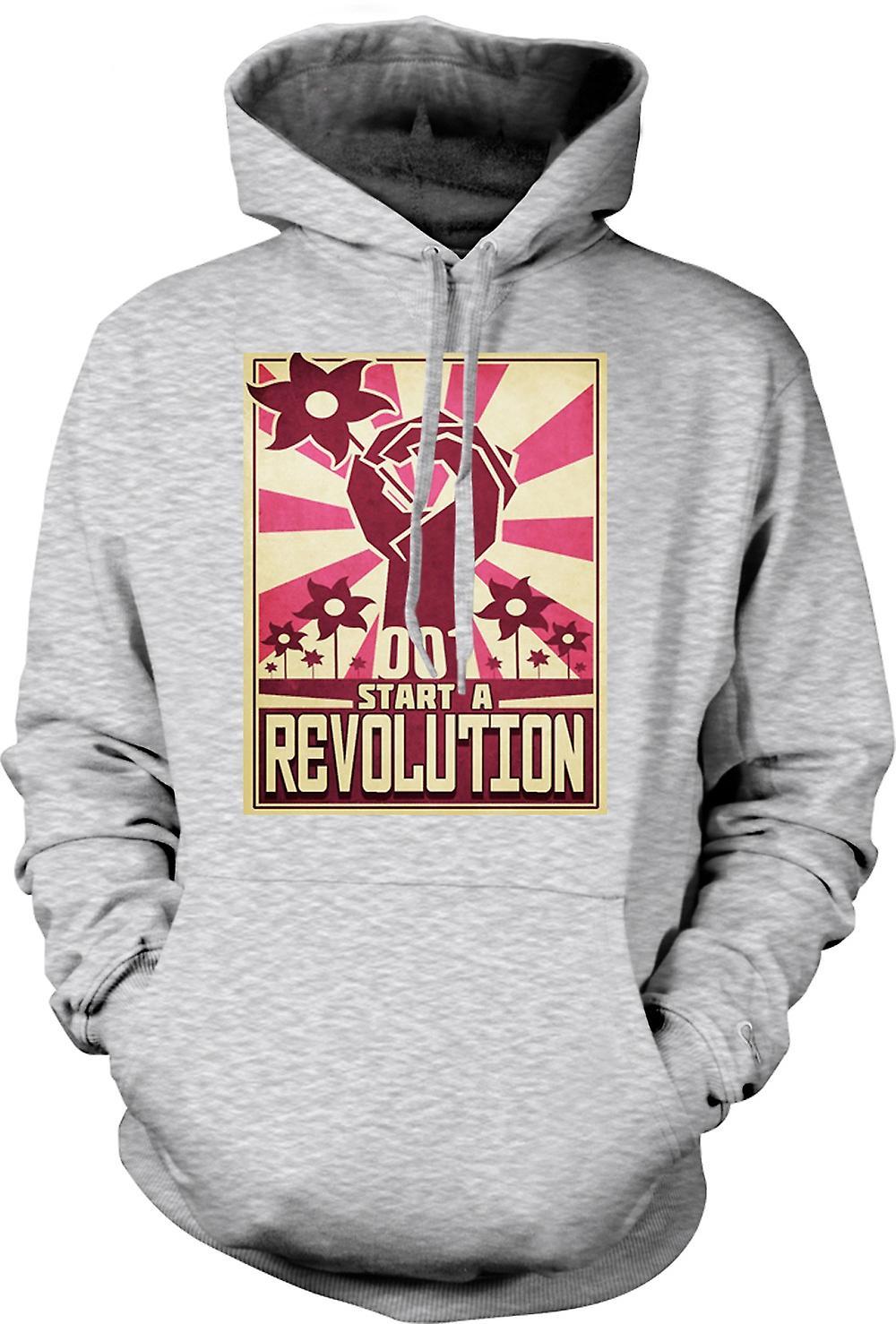 Para hombre con capucha - empezar una revolución - diseño fresco