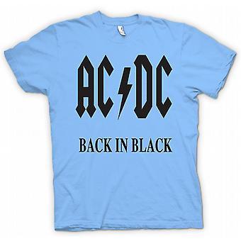 Мужская футболка-AC/DC обратно в черном