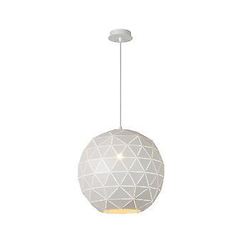 Lucide Otona Modern Round Metal White Pendant Light