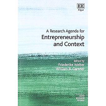 Eine Forschungsagenda für Unternehmertum und Kontext