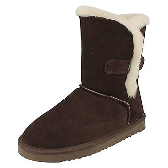 Ladies Unbranded Luxury Wool Lined Calf Boots