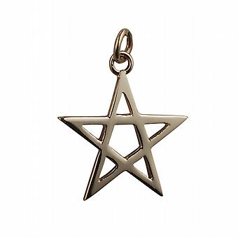 9ct Yellow Gold Large Pentangle pendant