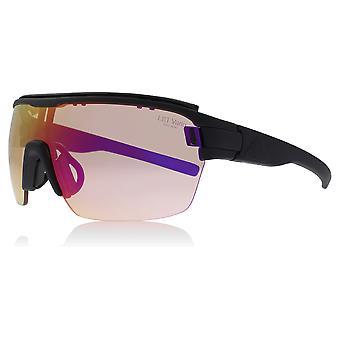 Adidas AD05 9100L Black Matte Zonyk Aero Pro L Visor Sunglasses Lens Category 3 Lens Mirrored Size 45mm