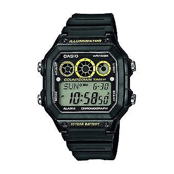 Casio digital watch quartz men with resin band AE-1300WH-1av
