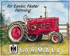 Farmall M Tractor Metal Sign