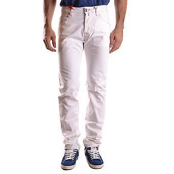 Jacob Cohen White Cotton Jeans