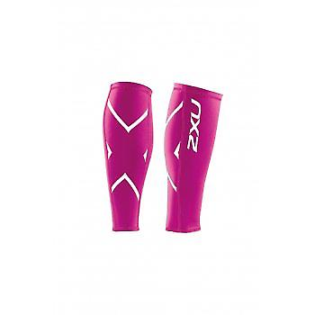Compression Calf Guards Unisex Hot Pink Small