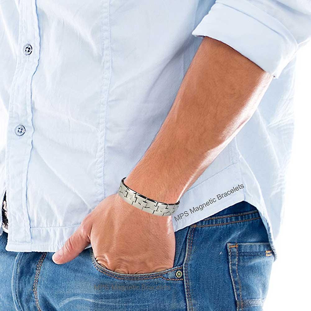 MPS® MARS Titanium Magnetic Bracelet + FREE Links Removal Tool
