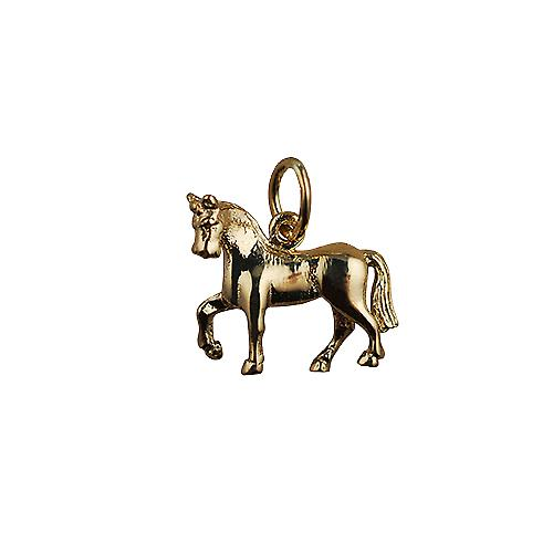 9ct Gold 13x15 unsaddled Horse Pendant or Charm