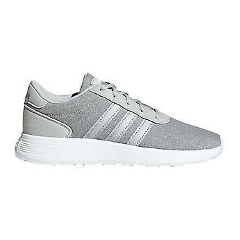 adidas Lite Racer Kids Lace Up Sports Trainer Shoe Grey/Silver