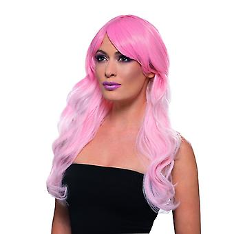 Fashion ombre wig wavy extra long wig pink Carnival accessory