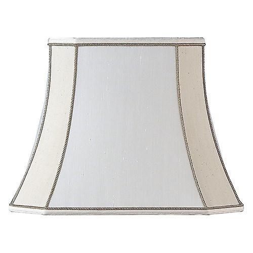 Endon CAMILLA-14 Camilla Square Cut Beige Silk Fabric Lamp Shade - 14 Inch