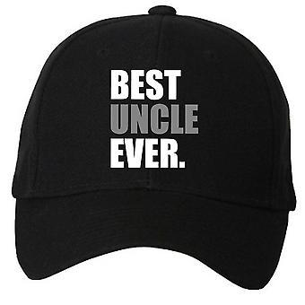 Best Uncle Ever Black Baseball Cap