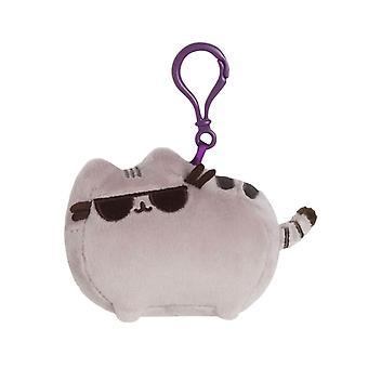 Pusheen con gafas de felpa bolsa clip