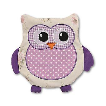 Polka Dot Purple Owl Microwavable Lavender Heat Pack
