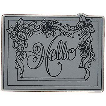 Spellbinders Framed Hello Stamp (SBS-083)