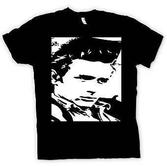Kids t-shirt - James Dean retrato - icono - BW