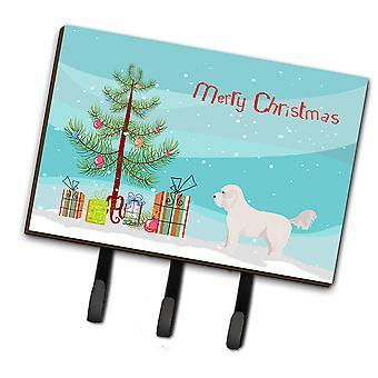 Carolines schatten CK3805TH68 Bichpoo witte kerstboom leiband of sleutelhaak