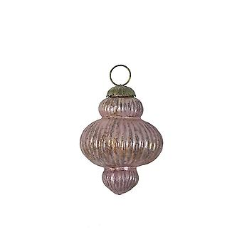 Light & Living Christmas Bauble Ø11,5 Cm KNOB Glass Ox Eggplant