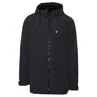 Lyle & Scott  Lyle & Scott Black Micro Fleece Lined Parka Jacket