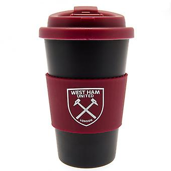 West Ham United FC siliconen grip Travel mug